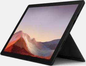 Microsoft Surface Pro 7 Mattschwarz, Core i5-1035G4, 16GB RAM, 256GB SSD + Surface Pro Signature Type Cover Mohnrot