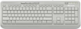 Microsoft Wired Keyboard 600 weiß, USB, DE (ANB-00028)