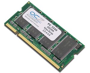 OCZ SO-DIMM 1GB PC-3200 DDR CL2.5-4-4 (DDR-400) (OCZ4001024VSO)
