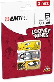 Emtec LT01 Looney Tunes 3x 8GB, USB-A 2.0, 3er-Pack (ECMMD8GM752P3LT01)