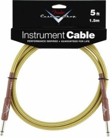 Fender Custom Performance Patch Cable 0,15m Yellow Tweed Paar