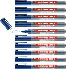 edding 361 Whiteboardmarker blau, 10er-Pack (4-361003#10)