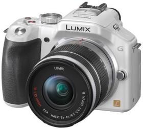 Panasonic Lumix DMC-G5 weiß mit Objektiv Lumix G Vario 14-42mm 3.5-5.6 OIS (DMC-G5K)