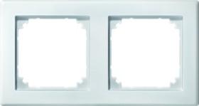 Merten System M M-SMART Rahmen 2fach Thermoplast edelmatt, polarweiß (484219)