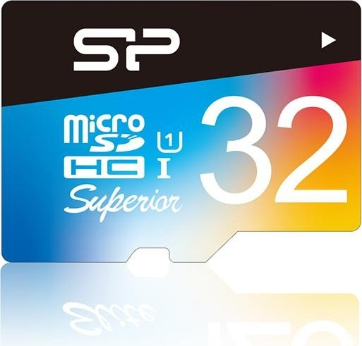 Silicon Power Superior R90/W45 microSDHC 32GB, UHS-I, Class 10 (SP032GBSTHDU1V20SP)