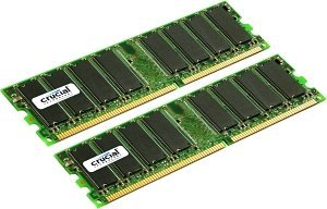 Crucial DIMM Kit   4GB, DDR-400, CL3, reg ECC  (CT2KIT25672Y40B)