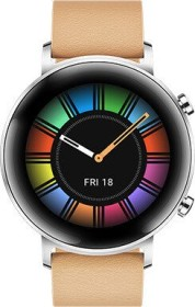 Huawei Watch GT 2 Classic 42mm silber mit Lederarmband gravel beige (55024508)