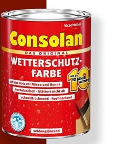Consolan Wetterschutz-Farbe außen Holzschutzmittel schwedenrot, 2.5l