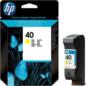 HP 40 Druckkopf mit Tinte gelb (51640YE)