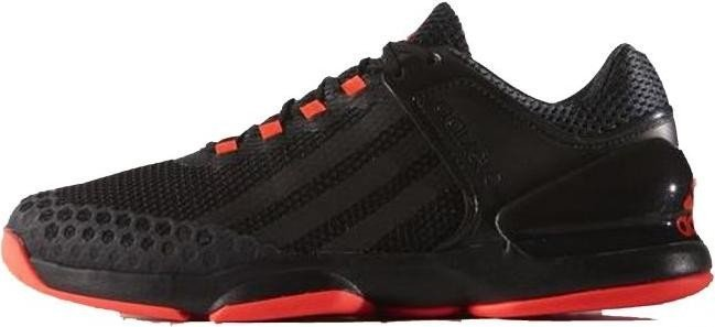 new arrival e051f 37266 adidas adizero Ubersonic core blacksolar red (men) (B33472)