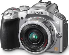 Panasonic Lumix DMC-G5 silber mit Objektiv Lumix G X Vario PZ 14-42mm 3.5-5.6 OIS (DMC-G5X)