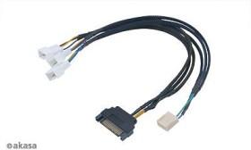 Akasa Flexa FP3S PWM Splitter Cable, 30cm (AK-CBFA06-30)