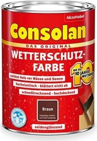 Consolan Wetterschutz-Farbe außen Holzschutzmittel braun, 2.5l