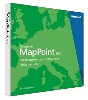 Microsoft: MapPoint 2013 - European Maps (German) (PC) (B21-01428)