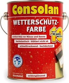 Consolan Wetterschutz-Farbe außen Holzschutzmittel dunkelbraun, 2.5l