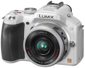Panasonic Lumix DMC-G5 weiß mit Objektiv Lumix G X Vario PZ 14-42mm 3.5-5.6 OIS (DMC-G5X)