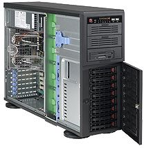 Supermicro 743TQ-865B black, 4U, 865W redundant