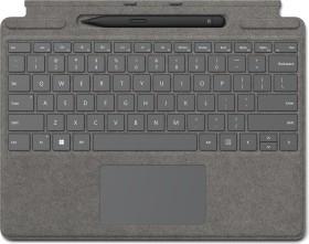 Microsoft Surface Pro X/Pro 8 Signature Keyboard Platin, Surface Slim Pen 2 Bundle, UK (8X6-00063)