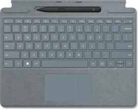 Microsoft Surface Pro X/Pro 8 Signature Keyboard Eisblau, Surface Slim Pen 2 Bundle, UK (8X6-00043)