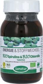 Sanatur Energie & Stoffwechsel Bio Spirulina & Bio Chlorella Tabletten, 500 Stück