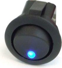Phobya rocker switch, circular, illuminated (various colours)