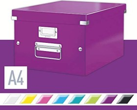 Leitz Click & Store WOW Aufbewahrungs- und Transportbox mittel, A4, violett (60440062)