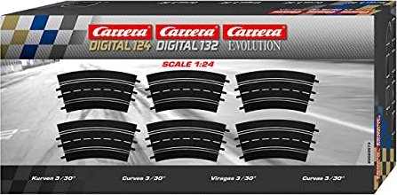 Carrera - Digital 124/132/Evolution Accessories - Curve 3 / 30 degrees (20573) -- via Amazon Partnerprogramm