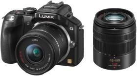 Panasonic Lumix DMC-G5 schwarz mit Objektiv Lumix G Vario 14-42mm OIS und 45-150mm OIS (DMC-G5W)