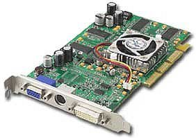 FIC AT009, Radeon 9000 Pro, 64MB DDR, DVI, TV-out, AGP