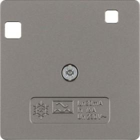 Berker Arsys Zentralstück 50x50mm für FI-Schutzschalter System 50x50mm, edelstahl matt (149604)