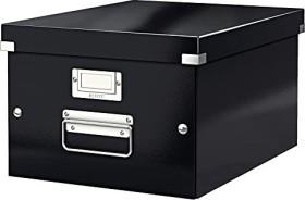 Leitz Click & Store WOW Aufbewahrungs- und Transportbox mittel, A4, schwarz (60440095)
