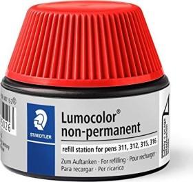 Staedtler Lumocolor 487 15 Non-Permanentmarker Nachfüllstation rot (487 15-2)