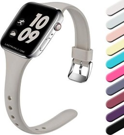 Wepro Silikonarmband S/M für Apple Watch Series 38/40mm grau