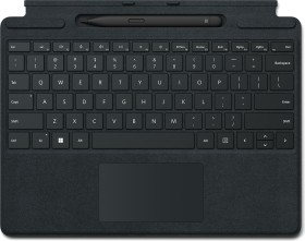 Microsoft Surface Pro X/Pro 8 Signature Keyboard schwarz, Surface Slim Pen 2 Bundle, DE, Business (8X8-00005)