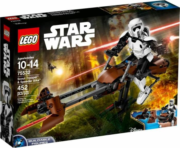 LEGO Star Wars Buildable Figures - Scout Trooper & Speeder Bike (75532)