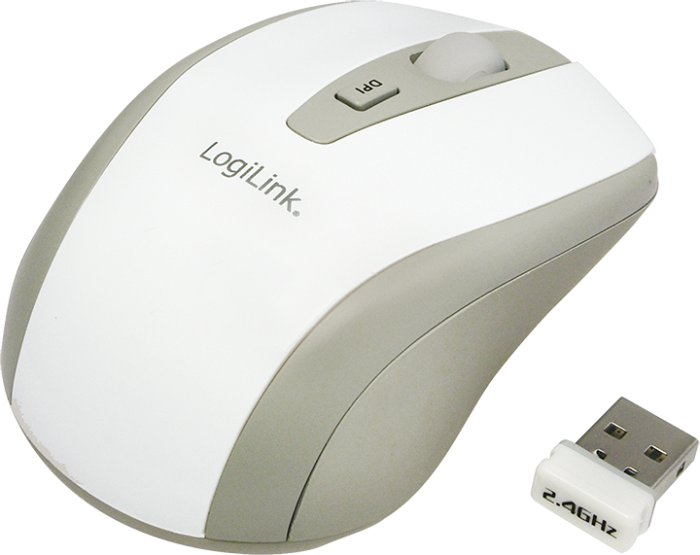 LogiLink Wireless Optical Mouse weiß, USB (ID0030)