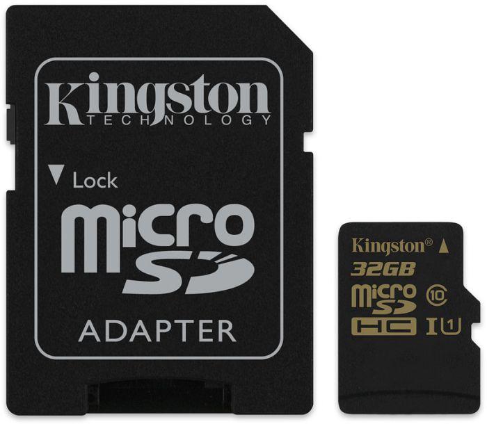 Kingston microSDHC 32GB Kit, UHS-I/Class 10 (SDCA10/32GB)