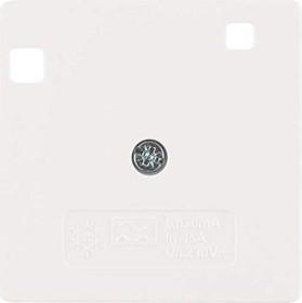 Berker Arsys Zentralstück 50x50mm für FI-Schutzschalter System 50x50mm, polarweiß glänzend (149609)