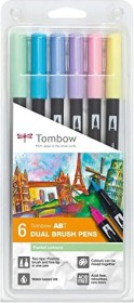 Tombow ABT Dual Brush Pen Pastellfarben, 6er-Set (ABT-6P-2)