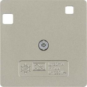 Berker Arsys Zentralstück 50x50mm für FI-Schutzschalter System 50x50mm, hellbronze matt (149611)