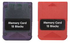 BigBen Memory Card double set - 2 x 1 MB with 15 Speicherblöcken (PS1,PS2)