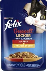 Felix So gut wie es aussieht Doppelt Lecker mit Rind und Geflügel in Gelee 85g
