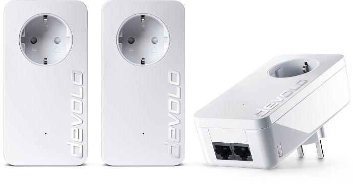 devolo dLAN 550 duo+ Network Kit, HomePlug AV2, 2x RJ-45, 3er-Pack (9304)