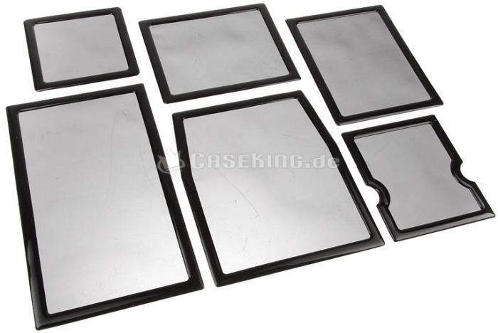 DEMCiflex dust filter set for Cooler Master HAF XM black/black -- © caseking.de