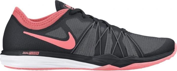 big sale d3561 67e32 Nike Dual Fusion TR black/lava glow/dark grey/pale grey (Damen ...