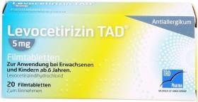Levocetirizin TAD 5mg Filmtabletten, 20 Stück