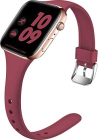 Wepro Silikonarmband S/M für Apple Watch Series 38/40mm weinrot