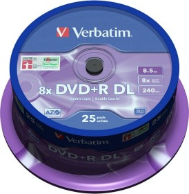 Verbatim DVD+R 8.5GB DL 8x, 25er Spindel (43757)