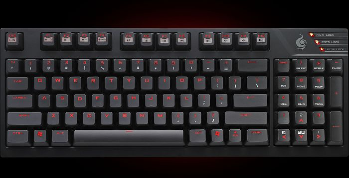Cooler Master CM Storm Quickfire TK, Cherry MX-Red, USB, UK (SGK-4020-GKCR1-UK)