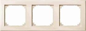 Merten System M M-SMART Rahmen 3fach Thermoplast edelmatt, weiß (484344)